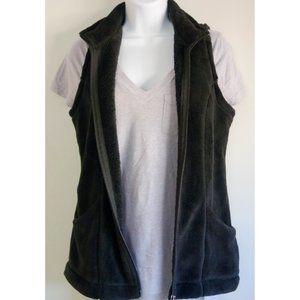 White Sierra Fleece Vest Black Size Medium